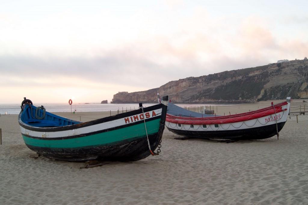 Die Boote von Nazaré